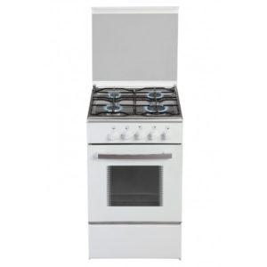 Cocina gas convencional Siulq color blanco, 4 fuegos con horno.
