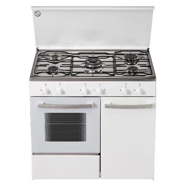 Cocina gas SIUL 5 fuegos con horno y portabombonas color blanco