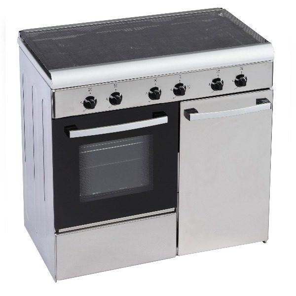 Cocina convencional gas butano Siul 5 fuegos con horno inox