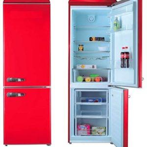 Combi REBRAND retro-vintage color rojo 190cm alto No Frost A+
