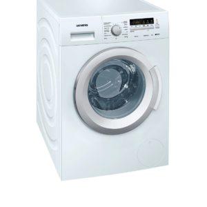 Lavadora carga frontal color blanco Siemens 8 kilos 1400 rpm A+++