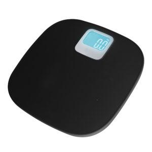 Báscula Baño Digital Plástico Negra Kuken