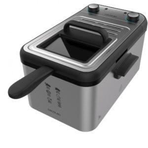 Freidora eléctrica Cecotec 3 litros inox