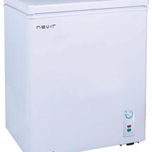 Congelador arcón Nevir 150 litros clase A+ color blanco, termóstato regulable