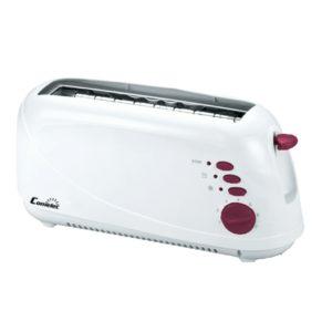 Tostador eléctrico boca ancha, color blanco 870W Comelec